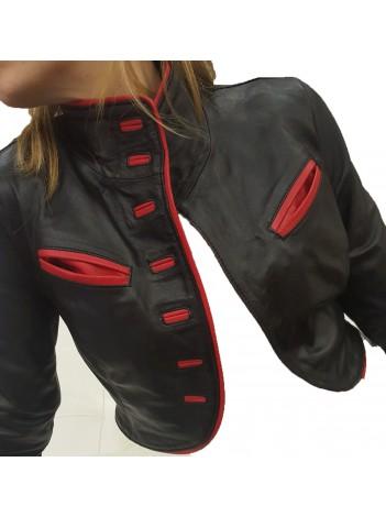 the best attitude cc1e8 6a278 Giubbotto corto coprispalla donna giacca vera pelle taglia ...