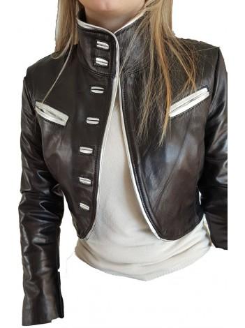 the best attitude d36d6 c7248 Giubbotto corto coprispalla donna giacca vera pelle taglia ...